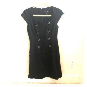 White House Black Market Black Button Dress